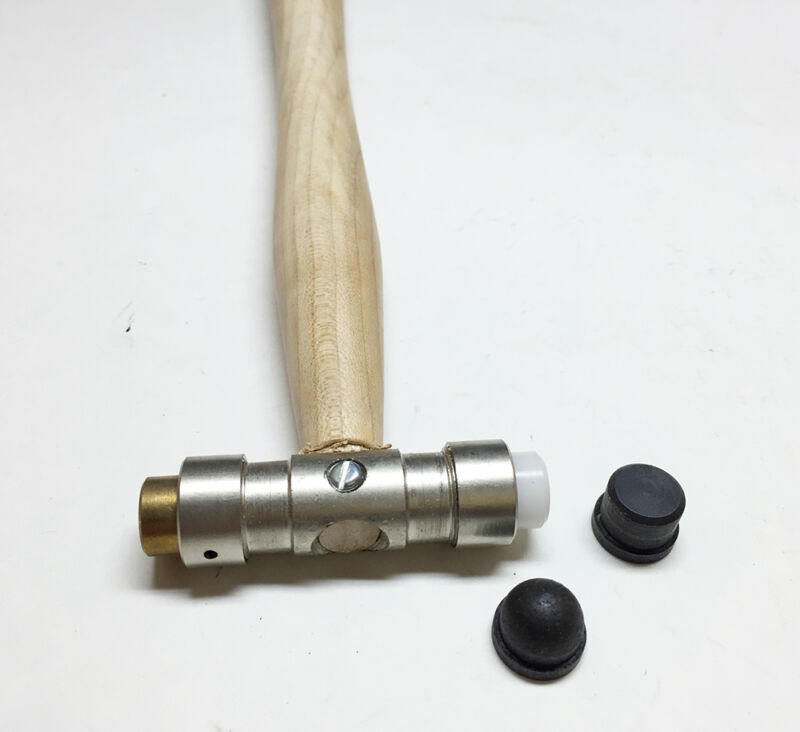 Brass Nylon Steel Forming Hammer For Gunsmith Jewelers 4 Interchangeable Faces