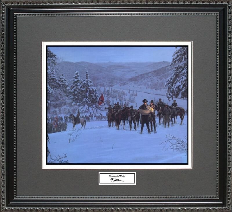 Mort Kunstler CONFEDERATE WINTER Framed Print Civil War Wall Art Gift