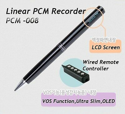 PCM-008 Digital Voice Recorder Linear PCM High Quality VOS Function LCD Display