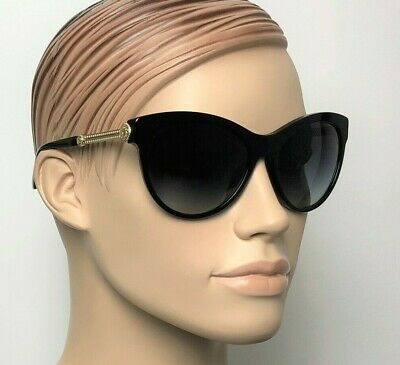 VERSACE MEDUSA Women OVERSIZE Cat Eye Sunglasses BLACK GREY GRADIENT 4292 GB1 8G