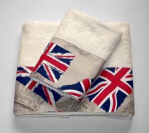 coppia spugne spugna salvietta ospite bandiera inglese