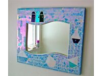 Stained Glass Bathroom Mirror