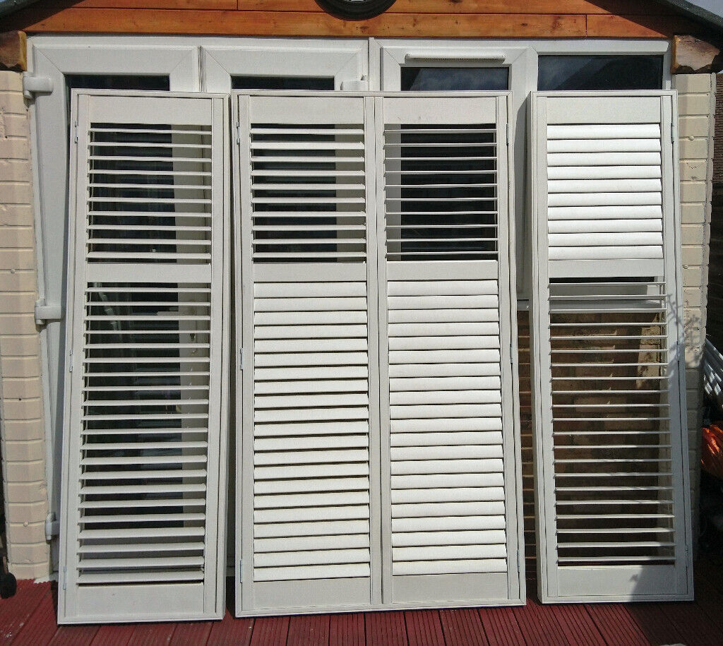 Plantation Blind Set, Full Height 1.9m - Bay Window ...