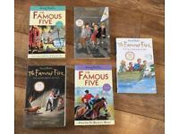 Bundle of 5 Famous Five Enid Blyton children's books