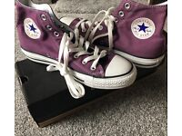 Brand new - size 7- purple converse - never been worn- mint condition- in orginal box