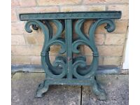 Small Cast Iron Garden Table Ends - coffee table? stool? bench?