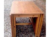 PINE DINING TABLE DROP LEAF
