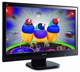 Viewsonic VX2753MH VS13918 LED 27-Inch LED Monitor LCD Display Black
