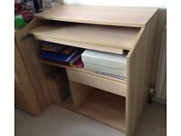 Beech effect writing desk / TV stand- EXCELLENT CONDITION