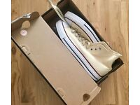 White new high Converse all star (size 9.5 for men)