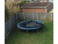 14ft large trampoline with safety net