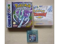 Pokemon crystal version - Nintendo Game Boy Game (GB) *BOXED & GENUINE*