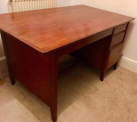 Large wooden desk (1960s)