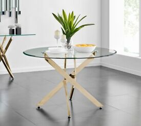 Large Trapp Dining Table glass by metro lane