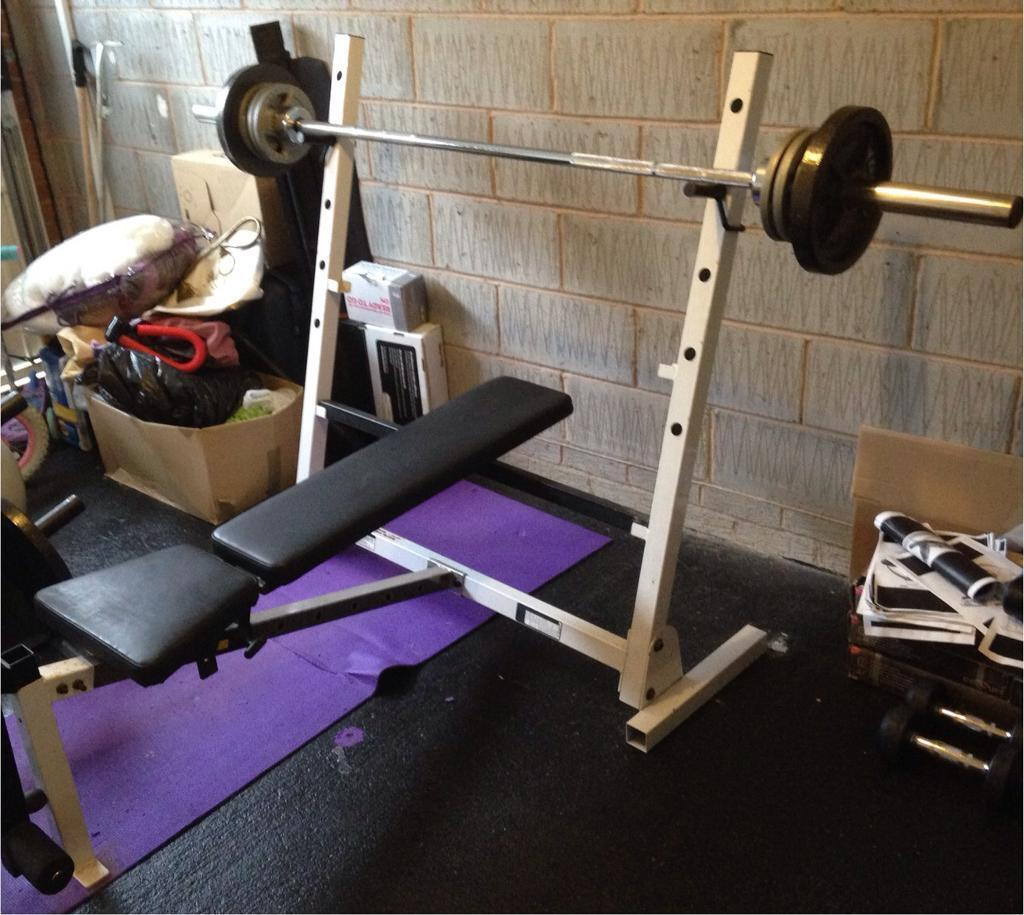Olympic Bench Press Without Barbell Home Gym Equipment Chest Press Weight Lifting In
