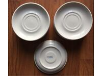 COFFEE SAUCERS WHITE 14 IN TOTAL MADE BY PUREWHITE HOTEL STANDARD AND QUALITY
