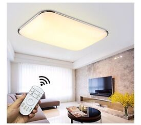Modern LED ceiling light with remote NEW in BOX