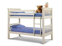 Julian Bowen Barcelona Single Bunk Beds (Stone White)