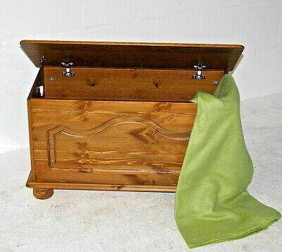 Massivholz Spielzeugkiste Truhe (Massivholz Truhe Kiefer honig Betttruhe holz kiste Wäschetruhe Spielzeug-truhe)