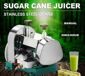 Manual Sugar Cane Press Juicer Juice Machine Commercial Extractor Mill - BRAND NEW - FREE SHIPPING