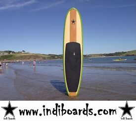 BRAND NEW STAND UP PADDLE BOARD (HARD BOARD) 9'6/10'6 GREEN RAIL PACKAGE WITH PADDLE, LEASH & BAG