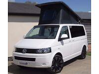 VW T5 Camper - New 4-berth Quality Conversion on a 2015 Trendline, 6-seats, Cruise, A/C, FSH RIB Bed