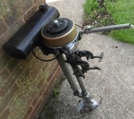 Seagull Outboard Engine / Motor . Standard Shaft . 2-3 HP. With Long Range Tank and New Spark Plug