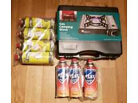 Outdoors Camping Stove and Butane Cannisters