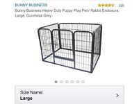 Puppy, dog play pen , brand new , heavy duty , not the right size for our puppy