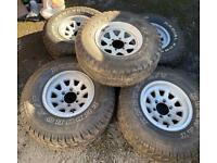 "5 x 16"" inch off road wheels 6x139.7 ET0 Toyota Land Cruiser 31x10.50 R15 tyres"