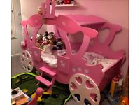 Child kid princess carriage bed & bedroom furniture