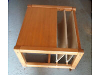 Coffee table and magazine rack combination