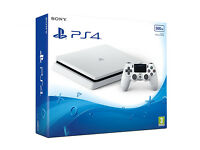 BRAND NEW White Sony PlayStation 4 SLIM 500GB PS4 Console New With Warranty