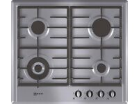 Neff T22S46N0 59cm Gas Hob, 4 Burner (including Wok burner)