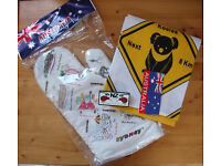 NEW Sydney oven glove, Australian road signs tea towel and New Zealand tubemate. £5 lot or spearate