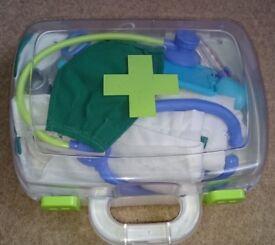 Doctors Set in Carry Case and Doctors Coat