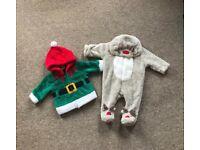 Christmas baby clothes mini bundle 0-3