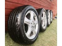 "Mercedes ML W164 19"" alloy wheels with tyres, 5x112 255/50/19"