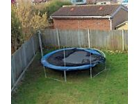 12ft Large Trampoline Steel Metal Frame and Poles Only Used