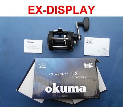EX-DISPLAY OKUMA CLASSIC CLX 300La SEA FISHING UPTIDE ROD BOAT MULTIPLIER REEL