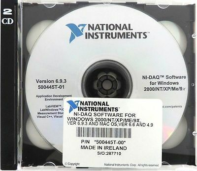 New National Instruments 500445t-00 Ni-daq Software For Windows 2000ntxpme9x