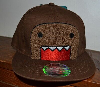 Domo Hat (Fuzzy Domo Authentic Adjustable Flat Bill Hat By Concept One Accessories OSFM )