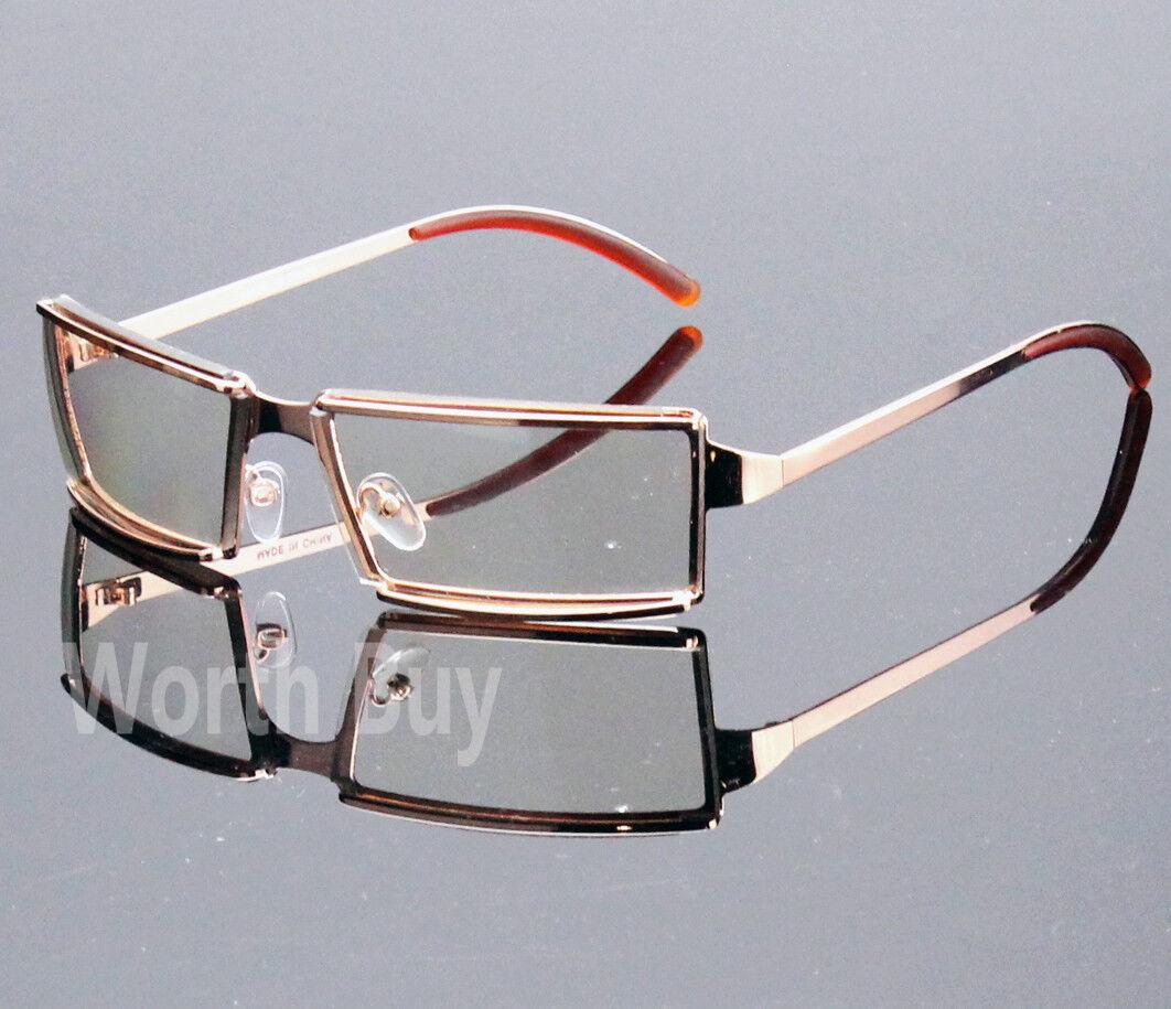 New Men Women Rectangular Frame Clear Lens Glasses Designer