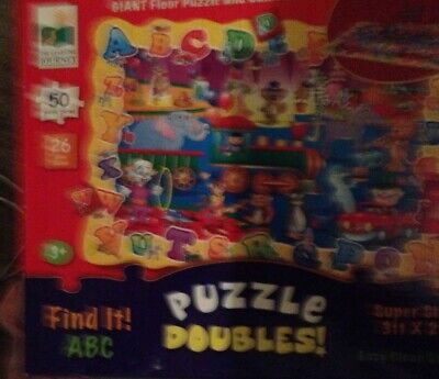 FIND IT! ABC Giant Floor Puzzle And Game In One - 3ftx2ft