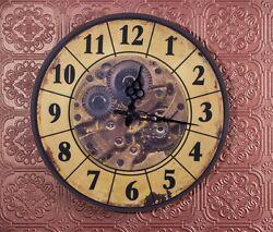 14.75 Steampunk Gear ART Wall Clock Rustic Vintage Industrial Bar Garage Decor