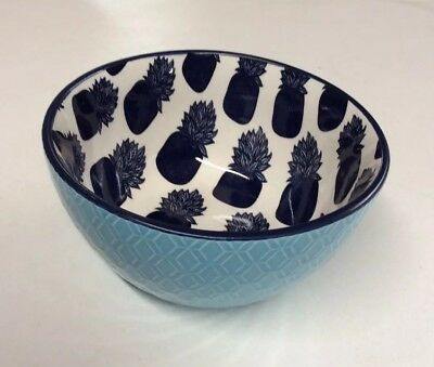4 Piece Crown & Ivy Pineapple Icon Bowl Set -  Set Includes 4 Bowls - NEW