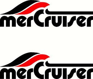 Mercury merCruiser Fishing Boat Sticker Decal Marine Set of 2
