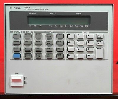 Hp - Agilent - Keysight 6051a Dc Electronic Load Mainframe 600 Watts