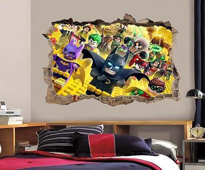 Lego Batman Movie Smashed Decal Graphic Wall Sticker Home Decor Art Mural J140](Lego Batman Decorations)