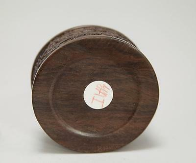"3"" Dia X 2 1/2"" H Chinese Zitan Wood  Incense Burner Censer"